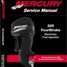 Mercury 225 EFI (4-Stroke) Outboard Motor Service Manual on a CD