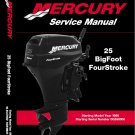 Mercury 25 Bigfoot (4-Stroke) Outboard Motor Service Manual on a CD