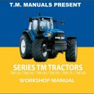 New Holland TM120 TM130 TM140 TM155 TM175 TM190 Tractor Service Manual on a CD