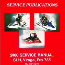 2000 Polaris SLH / Virage / Pro 785 PWC Personal Watercraft Service Manual CD