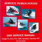 2000 Polaris Virage TX / SLX / Pro 1200 / Genesis / Genesis FFI Service Manual CD