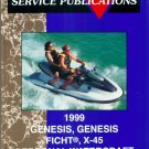 1999 Polaris GENESIS, GENESIS FICHT, X-45 Personal Watercraft Service Manual CD