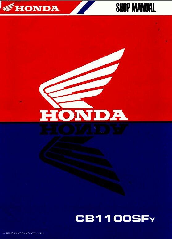 1999-2002 Honda X11 ( CB1100SF ) Service Repair Shop Manual on a CD