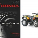 2001-2003 Honda TRX500FA Rubicon Service Repair Manual CD -- TRX 500 FA TRX500