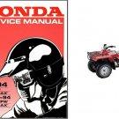 88-94 Honda TRX300 / TRX300FW Fourtrax 4X4 Service Repair Manual CD - TRX 300