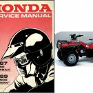 1986-1989 Honda TRX350 Fourtrax / TRX350D Foreman Service Repair Manual CD - TRX 350