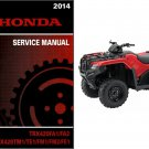 2014 Honda TRX420 FourTrax Rancher 420 ATV Service Repair Shop Manual CD - TRX