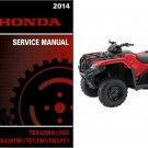 2014 Honda TRX420 FourTrax Rancher 420 ATV Service Repair Shop Manual CD - TRX