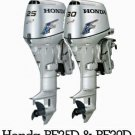 Honda BF25D BF30D Outboard Motor Service Repair Manual CD --- BF 25D 30D 25 30 D