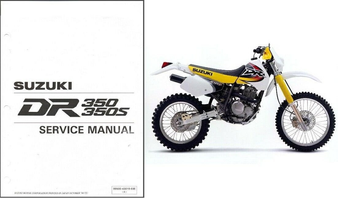 1990-1999 Suzuki DR350 / DR350S Service Manual on a CD -- DR 350 S