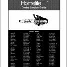 Homelite Chainsaw Service Repair Manual CD ----   Chain Saw