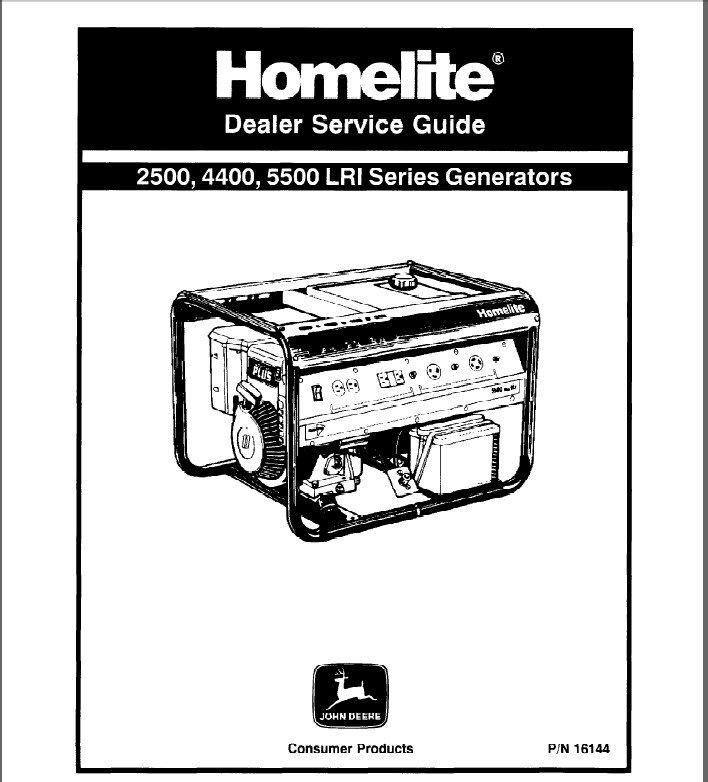 Homelite 2500 4400 5500 Generator Service Repair Manual CD
