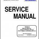 Mercury / Mariner 9.9 / 15 (Bigfoot) 4-Stroke Outboard Motors Service Manual on a CD