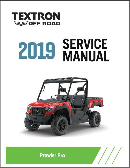 2019 Textron Off Road (Arctic Cat) Prowler Pro UTV Service Manual on a CD