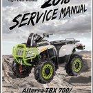 2018 Textron Off Road (Arctic Cat) Alterra TBX 700 / Mud Pro 700 LTD ATV Service Manual CD
