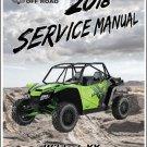 2018 Textron Off Road (Arctic Cat) Wildcat XX Service Manual CD