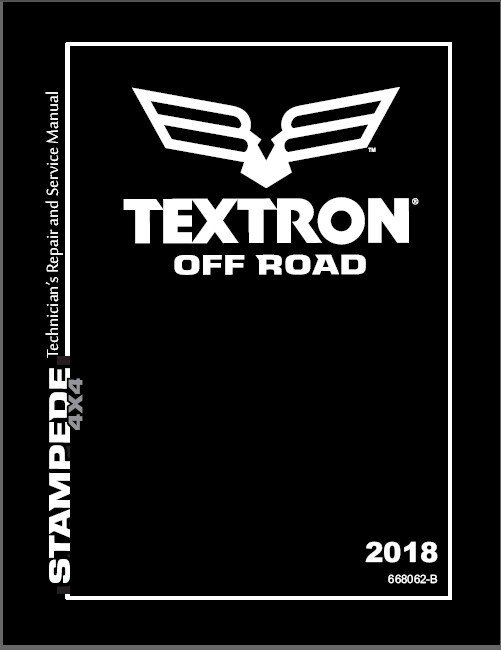 2018 Textron Off Road (Arctic Cat) Stampede XTR ATV Service Manual CD