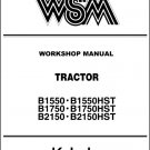 Kubota B1550 B1750 B2150 ( HST ) Tractor WSM Service Workshop Manual CD