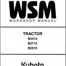Kubota B2410 B2710 B2910 Tractor WSM Service Workshop Manual CD