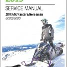 2019 Arctic Cat ZR XF M Pantera Norseman 6000 8000 2-Stroke Service Manual CD
