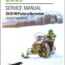 2019 Arctic Cat ZR XF M Pantera Norseman 4-Stroke Snowmobiles Service Manual CD