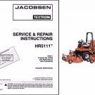 Jacobsen HR-5111 Rotary Lawn Mower Service Manual on a CD