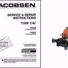 Jacobsen Turf Cat T422D T436G Lawn Mower Repair Service Manual CD