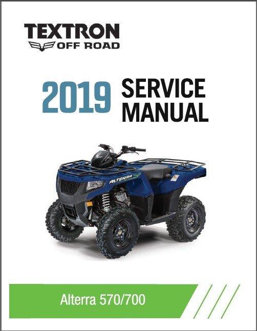 2019 Textron Off Road (Arctic Cat) Alterra 570 / Alterra 700 ATV Service Manual CD