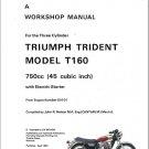 Triumph Trident T160 750 Service Repair Workshop Manual CD