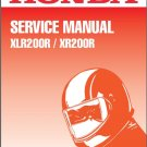 Honda XLR200R / XR200R Service Repair Shop Manual on a CD