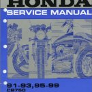 1991-1999 Honda CB750 Nighthawk 750 Service Repair Shop Manual on CD