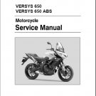 2015-2017 Kawasaki Versys 650 / Versys 650 ABS Service Repair Manual on a CD