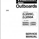 Yamaha 225 / 250 / L225 / L250 2-Stroke Outboard Motors Service Manual CD