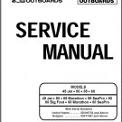Mercury / Mariner 45 Jet  50  55  60 4-Stroke Outboard Motors Service Manual CD