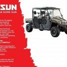 Hisun HS750 Crew ( HS750UTV-2 ) UTV Service / Maintenance Manual CD - HS 750