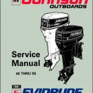 Evinrude / Johnson 25 40 45 48 50 55 HP Models Outboard Motors Service Manual CD