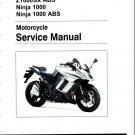 2014-2016 Kawasaki Z1000SX / Ninja 1000 (ABS) Service Repair Manual CD