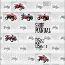 2005 Bombardier (Can-Am) DS650 / DS 650 X Service Repair Shop Manual CD