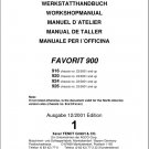 FENDT Favorit 900 ( 916 920 924 926 ) Tractor Service Workshop Manual on a CD