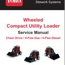 Toro Wheeled Utility Loader ( 220 222 220D 320D 322 323 ) Service Manual on a CD