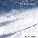 2011 Evinrude E-tec 15 25 30 HP Outboard Motor Service Repair Manual CD