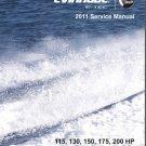 2011 Evinrude E-tec 115 130 150 175 200 HP Outboard Motor Service Manual CD