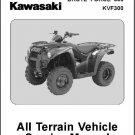 2012-2013 Kawasaki Brute Force 300 / KVF300 ATV Service Repair Manual CD