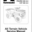 2003-2012 Kawasaki Prairie 360 / KVF 360 ATV Service Repair Manual CD - KVF360