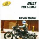 2017-2019 Yamaha Bolt 950 ( XV950 ) Service Repair Manual CD -  XVS95CH/XVS95CHC