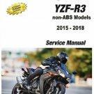 2015-2018 Yamaha YZF-R3 Service Repair Manual CD