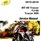 2015-2016 Yamaha MT-09 / FJ-09 Tracer 900 Service Repair Manual on a CD