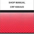 Honda CRF1000 / CRF1000A / CRF1000D Service Repair Shop Manual CD