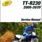 2005-2020 Yamaha TT-R230 Service Repair Workshop Manual on a CD
