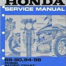 1989-1998 Honda PC800 Pacific Coast 800 Service Repair Shop Manual on a CD
